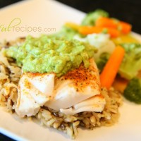 Fish (Pacific Cod) & Avocado Sauce