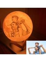 3D Mond Lampe Mit Bild   16 Farbe Custom Photo 3d Mond ...
