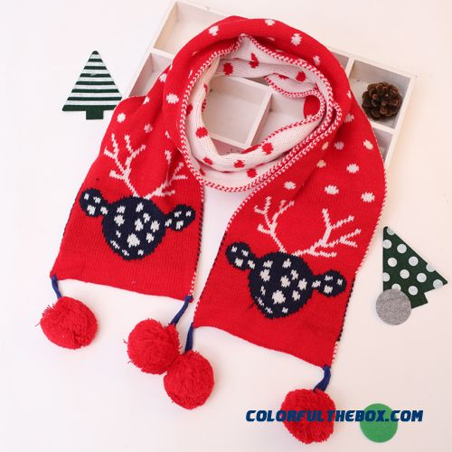 Cheap Christmas Gifts Kids Scarf Knitting Wool Scarves