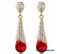 Long Diamond Earrings Wedding