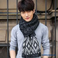 Cheap Men's Scarves Warm Scarf Korean Style Mixed Color ...