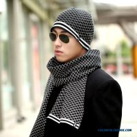 Cheap Two-piece Of Men's Autumn & Winter Knit Hat Head ...