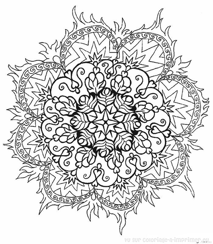 coloriage à imprimer coloriage mandala 004