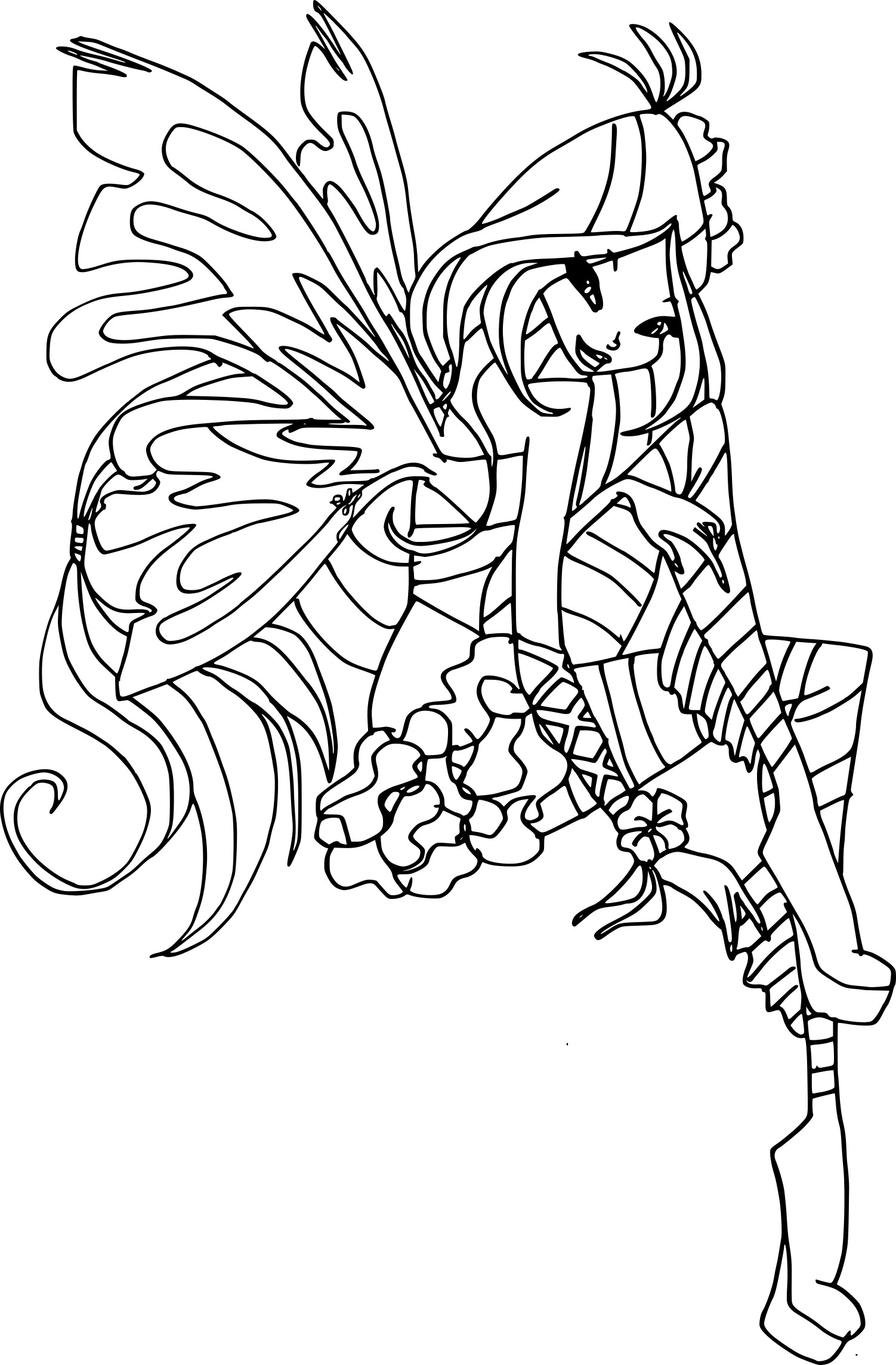 Coloriage Winx Flora Dessin Free Coloring Pages Globalchin Coloring