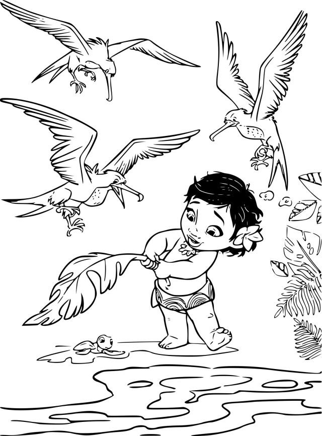 Coloriage Vaiana enfant à imprimer
