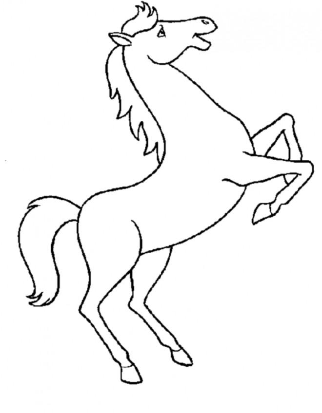 Coloriage Cheval qui saute dessin gratuit à imprimer