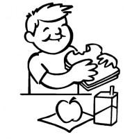 Coloriage Enfant Mange Coloriage Manga A Imprimer