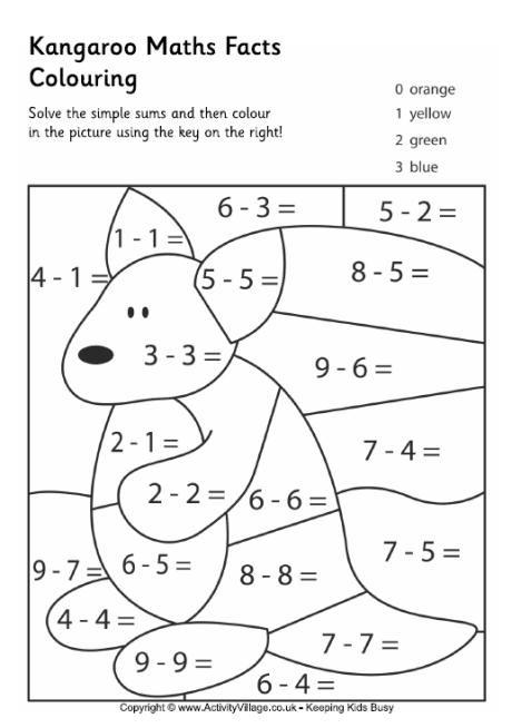 Coloriage Mathématique soustraction dessin gratuit à imprimer