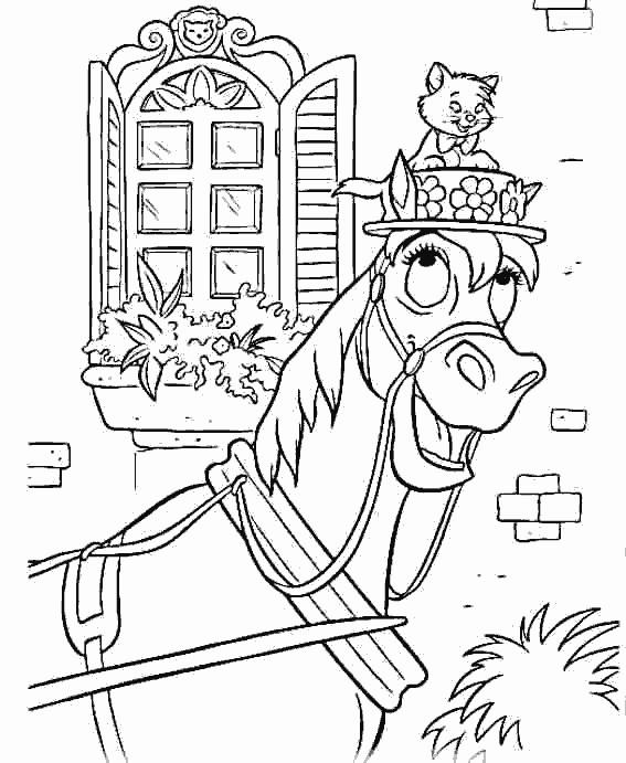 Coloriage Aristochats en ligne dessin gratuit à imprimer