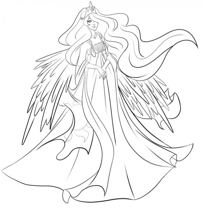 Coloriage Celestia La reine dessin gratuit à imprimer