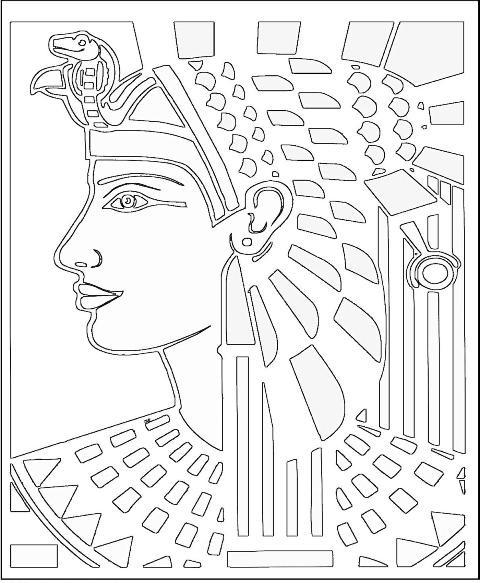 Coloriage Le dessin de Cleopatre dessin gratuit à imprimer