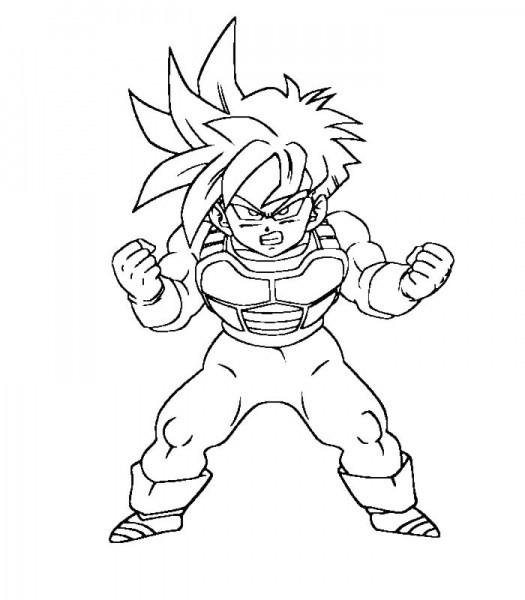 Coloriage Dragon Ball Z A Imprimer Sangoku