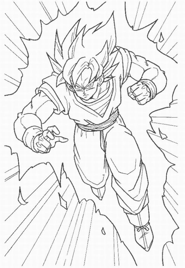 Coloriage Dragon Ball Z Gohan dessin gratuit à imprimer