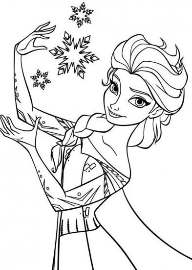 Coloriage Elsa à colorier dessin gratuit à imprimer