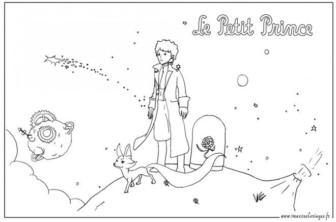 Coloriage Le petit prince 2 gratuit à imprimer en ligne