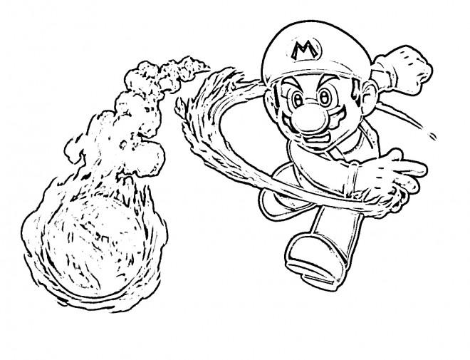 Coloriage Mario Bros Luigi