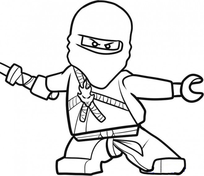 Coloriage Ninjago Kai dessin gratuit à imprimer