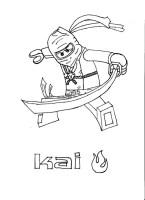 Coloriage Ninjago Kai gratuit dessin gratuit à imprimer
