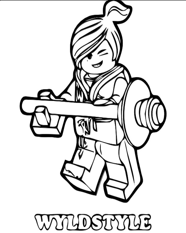 Gambar Mewarnai Lego
