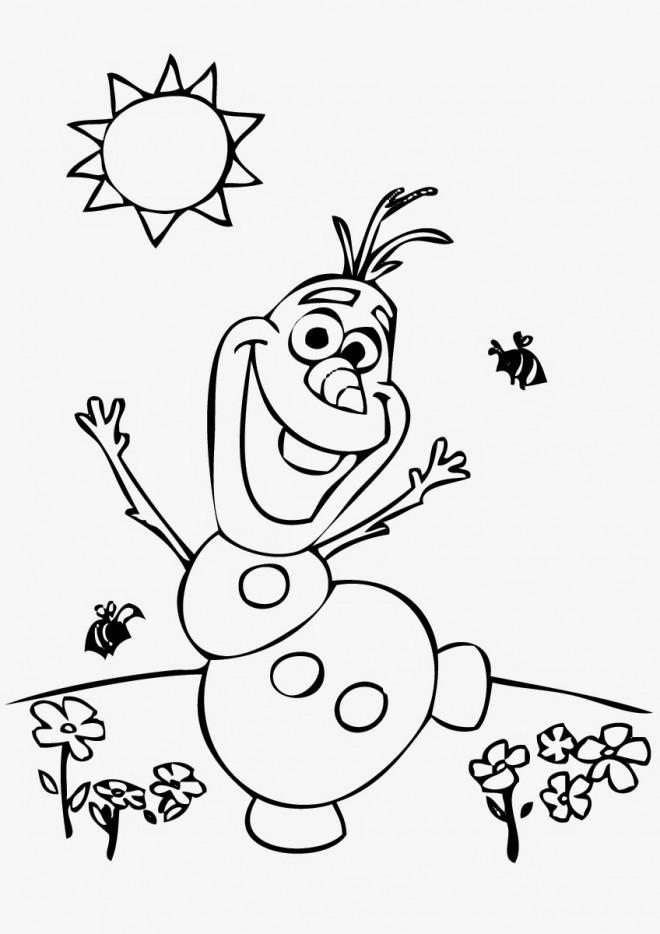 Coloriage Olaf gratuit dessin gratuit à imprimer