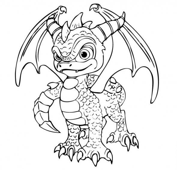 Coloriage Dessin Skylanders Spyro dessin gratuit à imprimer