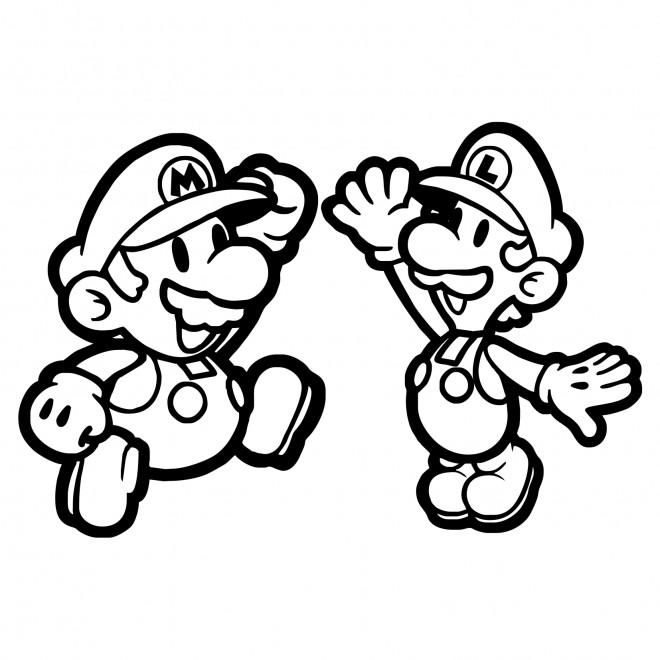Coloriage Mario bros pour enfant dessin gratuit à imprimer