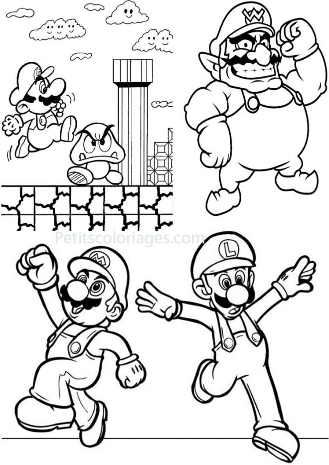 Dessins Gratuits Colorier Coloriage Mario Kart Free Coloring Pages