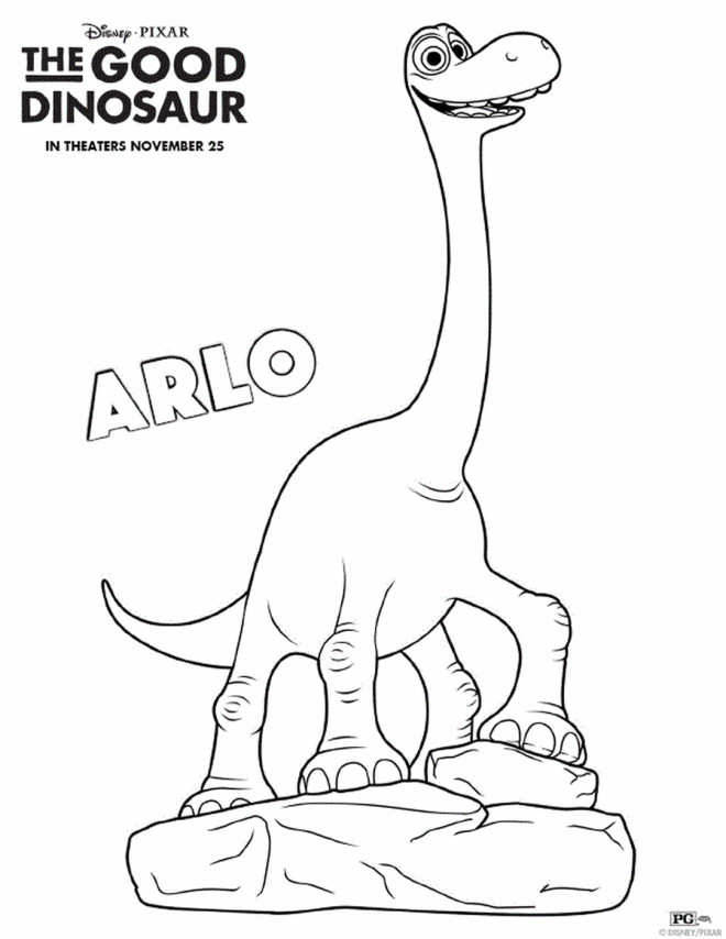 coloriage le bon dinosaure arlo dessin