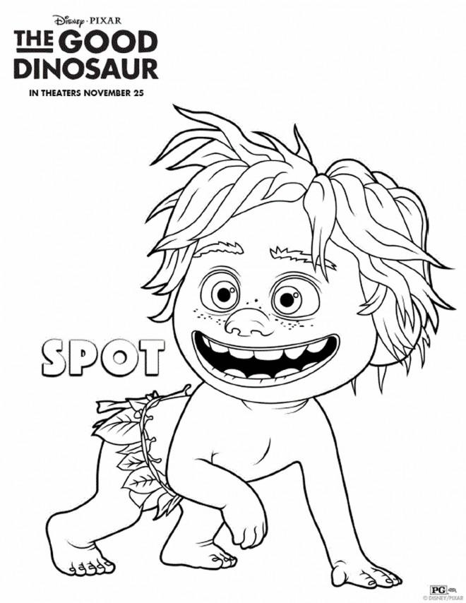 Coloriage Spot dans le bon dinosaure dessin gratuit à imprimer