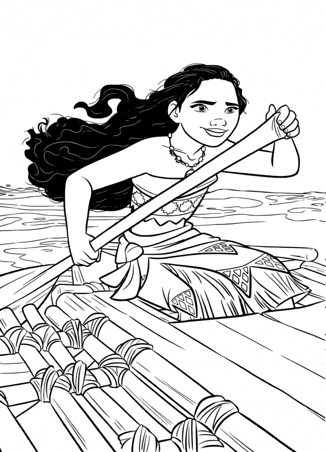 Coloriage Moana l'exploratrice dessin gratuit à imprimer