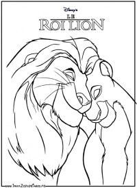 Simba Coloriage A Pour A Lion Coloriages Simba Frexiz Info