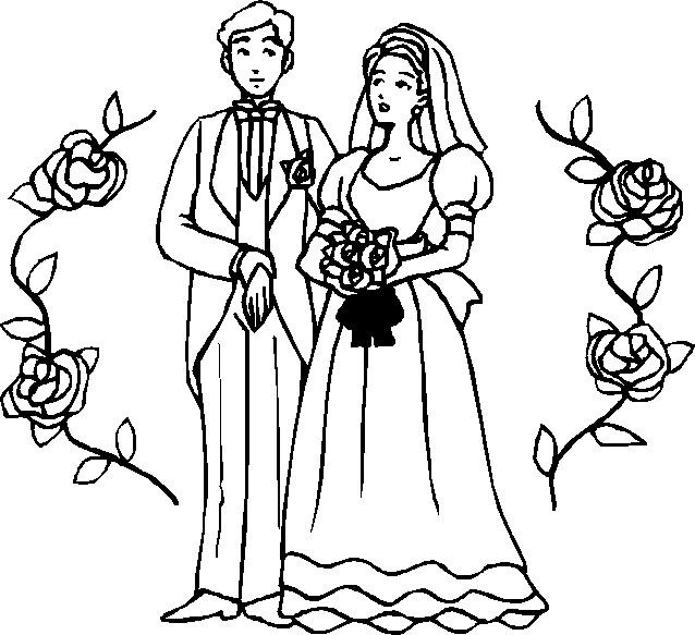 Coloriage Mariage gratuit à imprimer liste 40 à 60