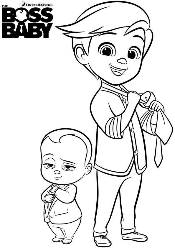 Coloriage Bébé Boss et Tim dessin gratuit à imprimer