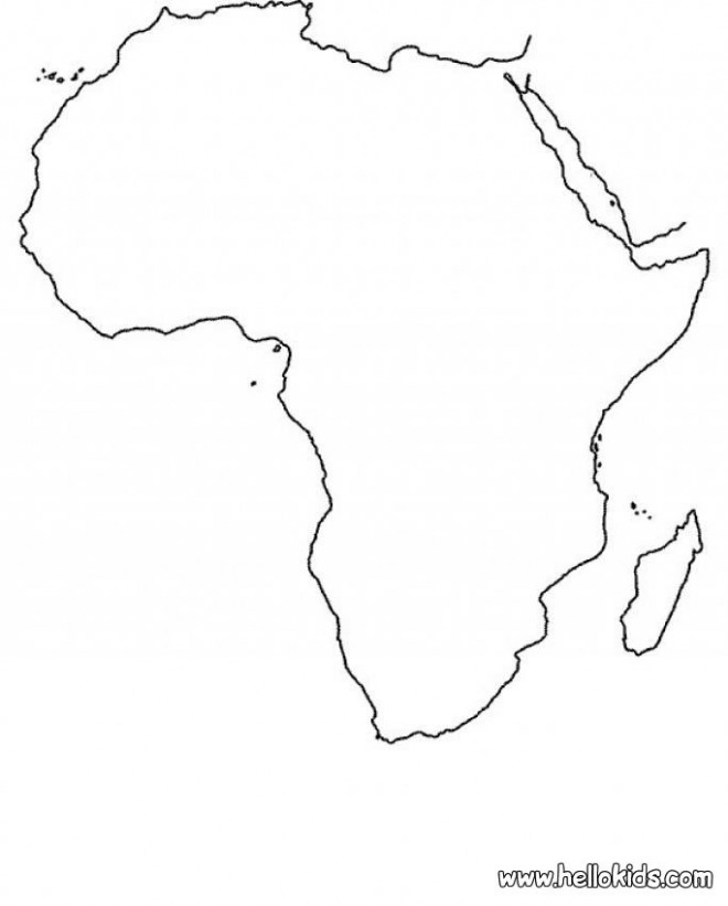 Continent Map Outline