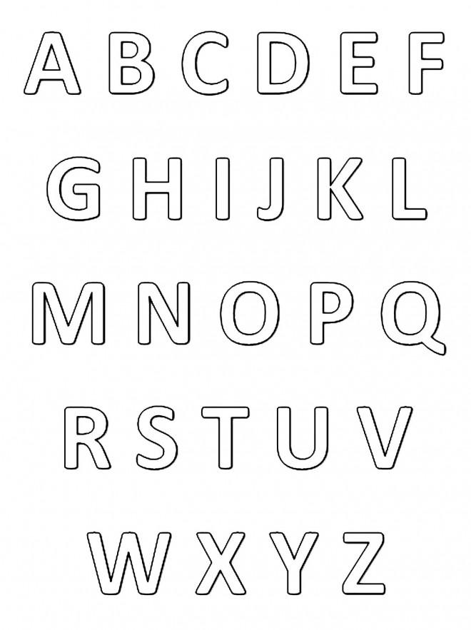 Coloriage Alphabet stylisé dessin gratuit à imprimer