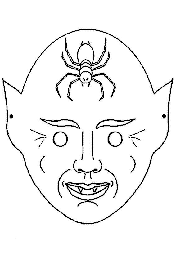 Coloriage Masque Halloween dessin gratuit à imprimer