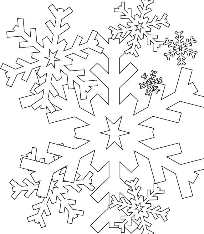Coloriage Flocon de Neige à colorier dessin gratuit à imprimer