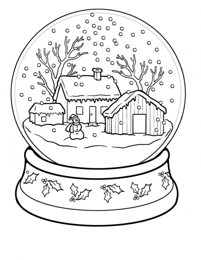 Coloriage Hiver Neige 36 dessin gratuit à imprimer