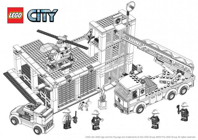 Lego City Polizeistation Ausmalbilder Auto Electrical