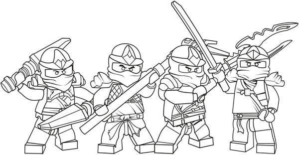 Coloriage Personnages Lego Ninjago dessin gratuit à imprimer
