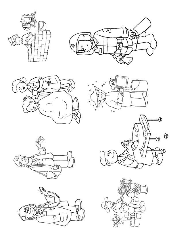 Coloriage Les Métiers Professions dessin gratuit à imprimer