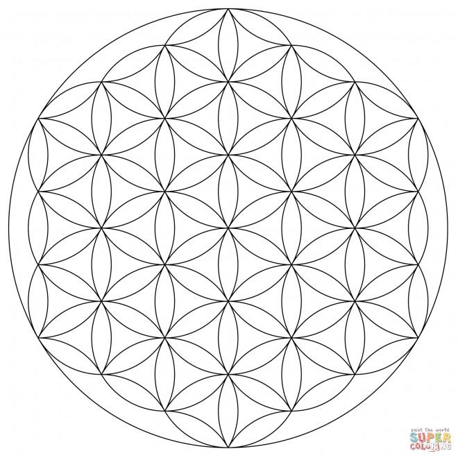 Coloriage Mandala Fleurs Géométrique