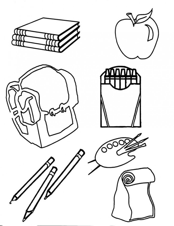 Classroom Objects Stationery Items