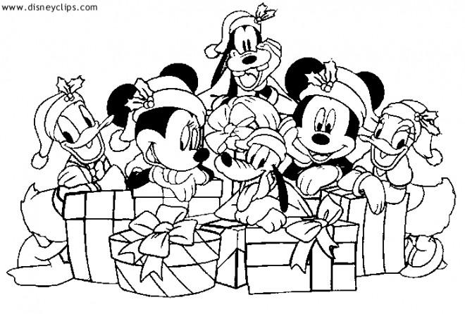 Coloriage Les Petits De Disney Noel Dessin Gratuit Imprimer
