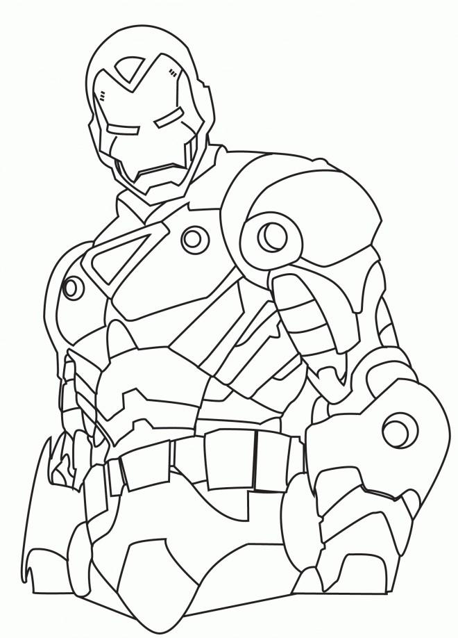 Coloriage Iron Man 4 Dessin