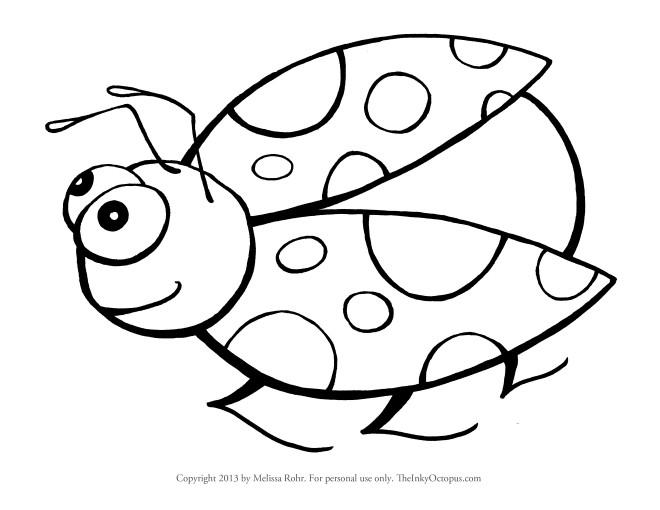 Coloriage Coccinelle humoristique dessin gratuit à imprimer