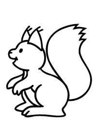 Coloriage Ecureuil Volant.Coloriage Ecureuil Animal Tree Squirrel Dessin