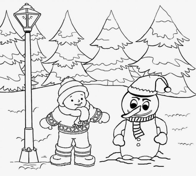Coloriage Paysage Neige 35 dessin gratuit à imprimer