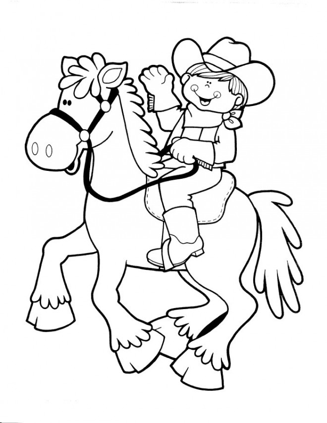 Coloriage Cowboy Disney dessin gratuit à imprimer