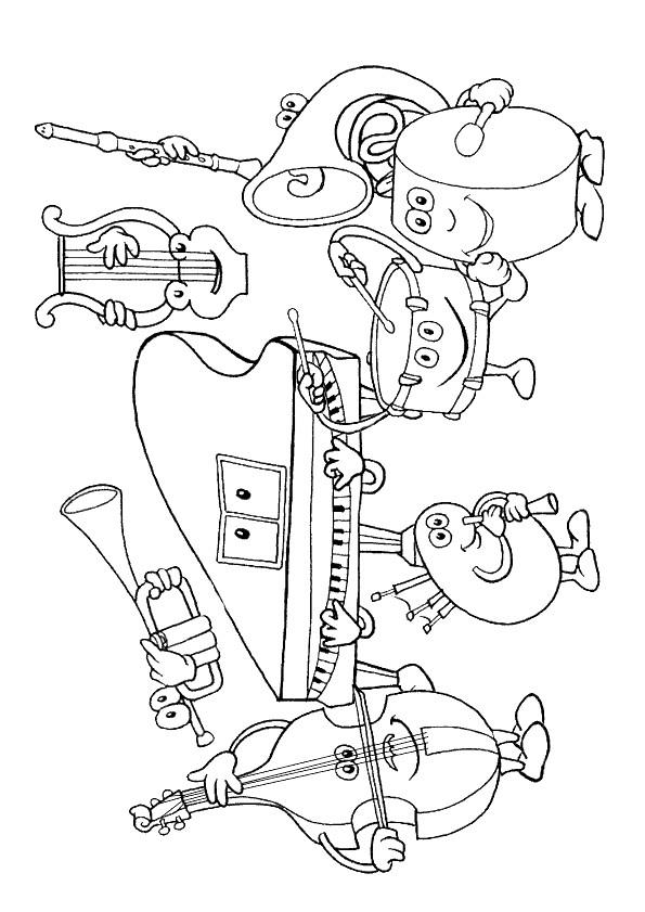 Coloriage Des instruments de musique dessin gratuit à imprimer